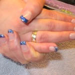 FRENCH TWIST BLAUW EN GLITTER EN DONKERBLAUWE FRENCH 003