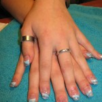 FRENCH TWIST BLAUW EN GLITTER EN DONKERBLAUWE FRENCH 005